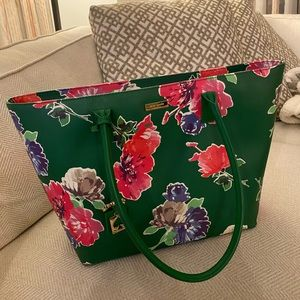🍈 Kate Spade Brightwater drive Green Floral Bag